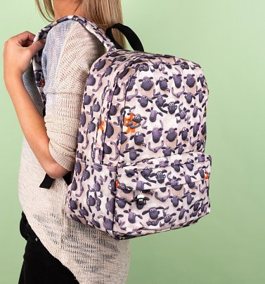 Shaun The Sheep All Over Print Flocked Backpack