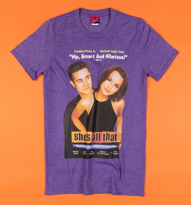 She's All That Movie Poster Purple T-Shirt