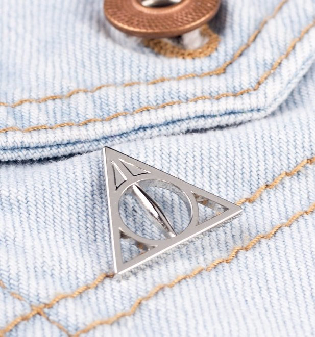 Silver Plated Harry Potter Deathly Hallows Pin Badge