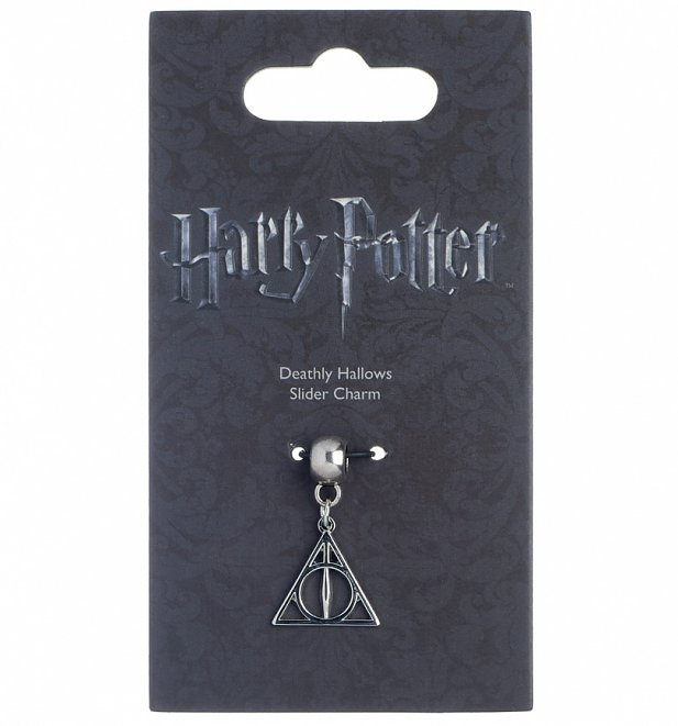 Silver Plated Harry Potter Deathly Hallows Slider Charm