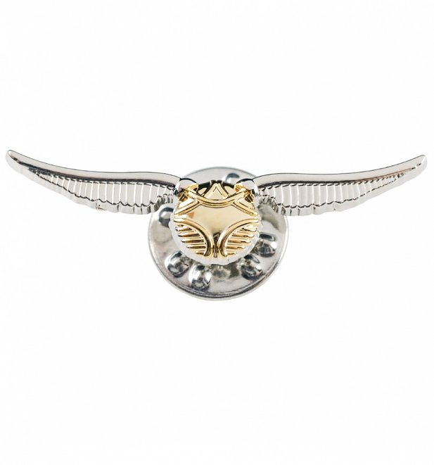 Silver Plated Harry Potter Golden Snitch Pin Badge