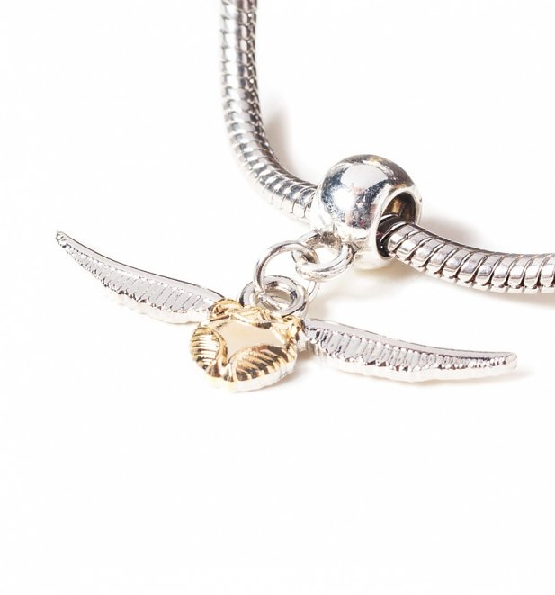 Silver Plated Harry Potter Golden Snitch Slider Charm