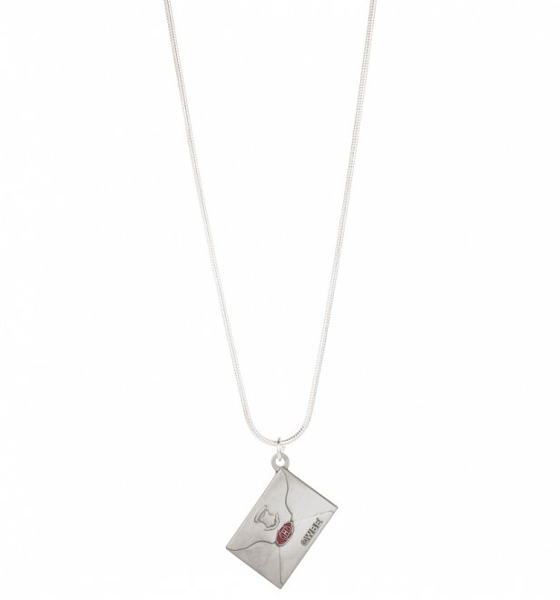 Silver Plated Harry Potter Hogwarts Letter Necklace