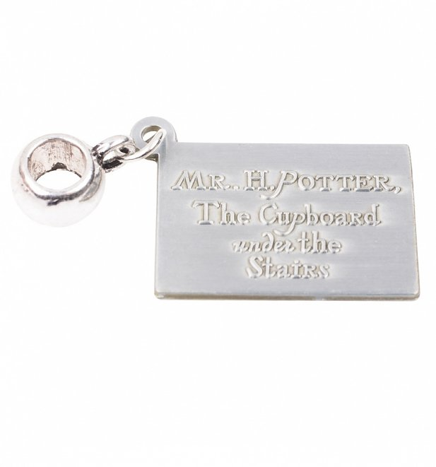 Silver Plated Harry Potter Hogwarts Letter Slider Charm