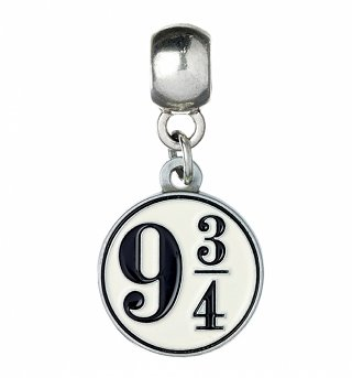 Silver Plated Harry Potter Platform 9 And 3/4 Slider Charm