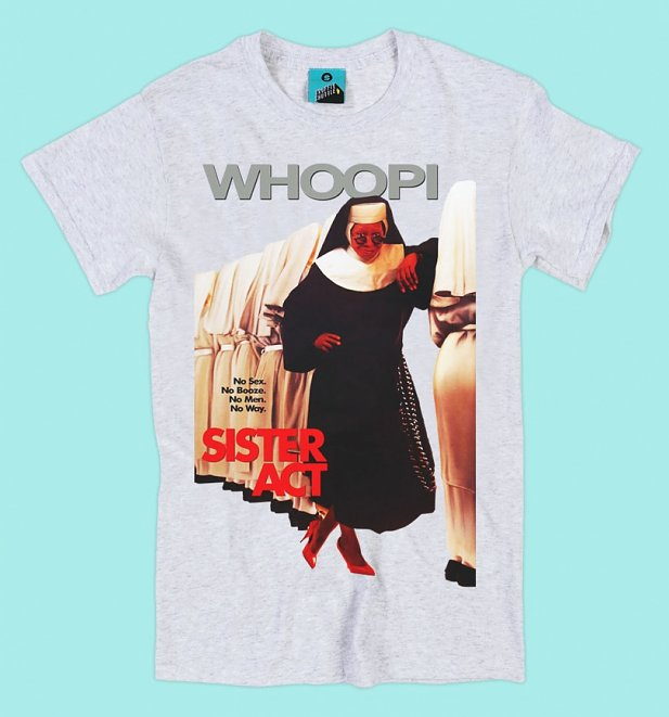 Sister Act Movie Poster Ash Grey T-Shirt