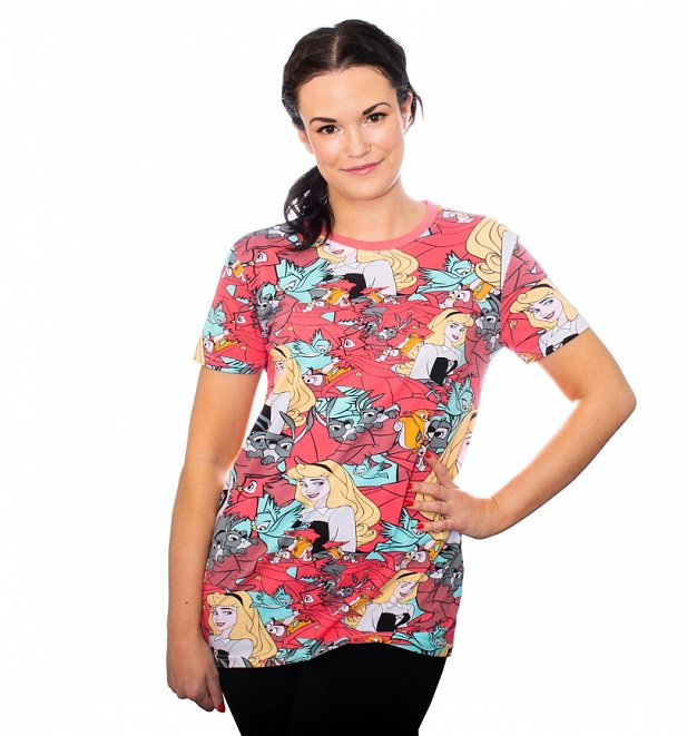 Sleeping Beauty Briar Rose All Over Print T-Shirt from Cakeworthy