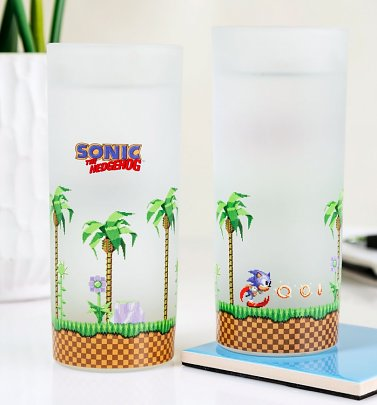 Sonic The Hedgehog Set of 2 Glasses