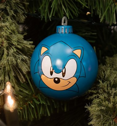 Sonic The Hedgehog Sonic Bauble Christmas Decoration from Bauble Heads