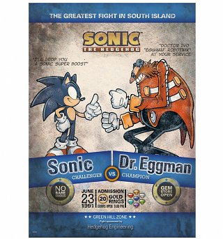 "Sonic the Hedgehog Fight of the Year 11.7"" x 16.5"" Art Print"
