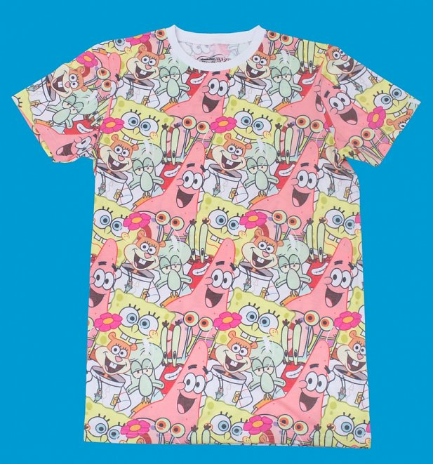 SpongeBob SquarePants All Over Print T-Shirt from Cakeworthy