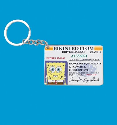 SpongeBob SquarePants Bikini Bottom Driver License Keyring from Cakeworthy