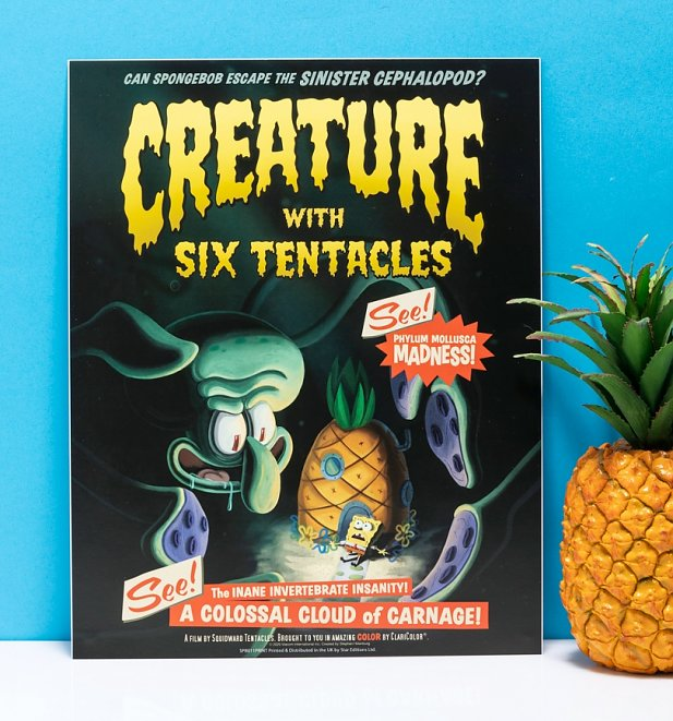 "SpongeBob SquarePants Creature With Six Tentacles 11"" x 14"" Art Print"
