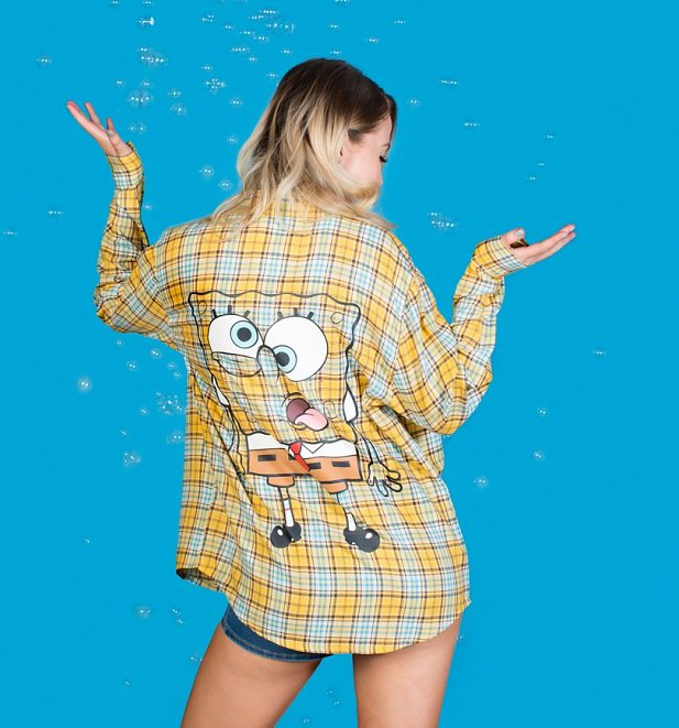 SpongeBob SquarePants Flannel Shirt from Cakeworthy