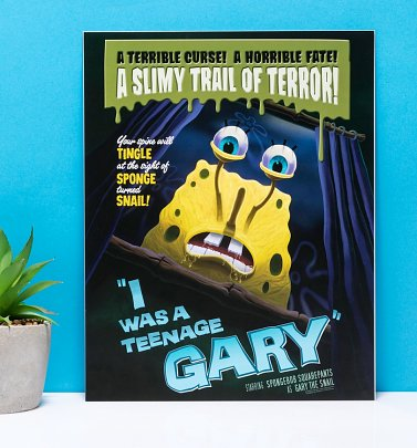 "SpongeBob SquarePants I Was A Teenage Gary 11"" x 14"" Art Print"