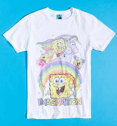 SpongeBob SquarePants Imagination White T-Shirt