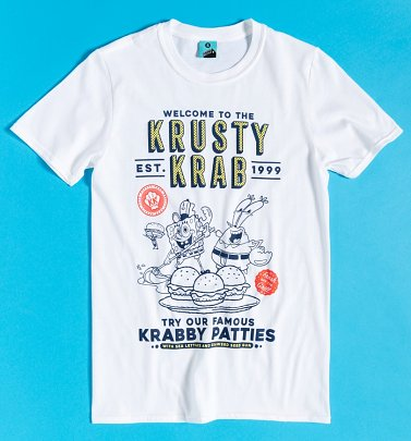 SpongeBob SquarePants Welcome To The Krusty Krab White T-Shirt