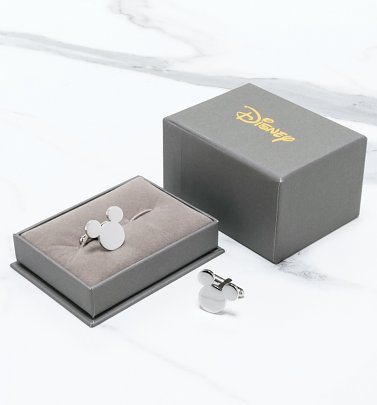 Stainless Steel Mickey Mouse Cufflinks