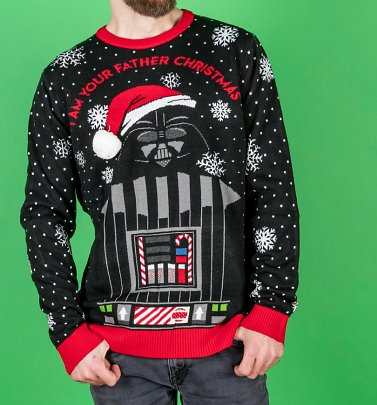 Star Wars Darth Vader I Am Your Father Knitted Christmas Jumper