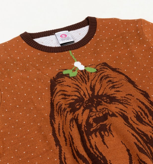 Star Wars Kiss A Wookiee Knitted Christmas Jumper