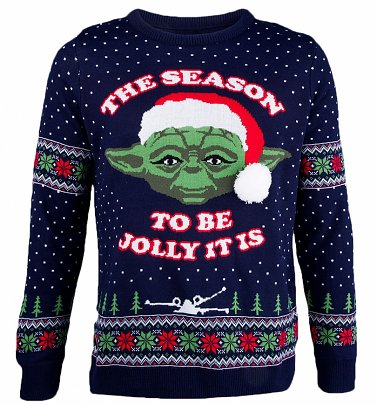 Star Wars Knitted Master Yoda Tis The Season Christmas Jumper