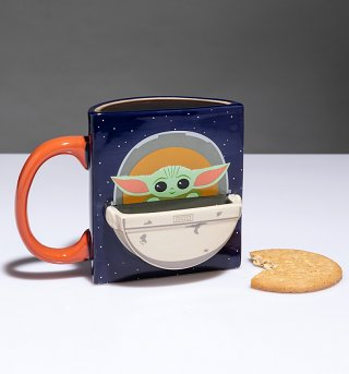 Star Wars Mandalorian The Child Drink Time Mug with Biscuit Holder from Funko