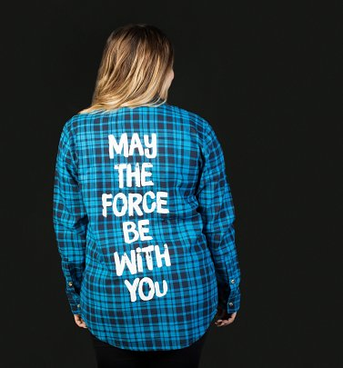 Star Wars May The Force Be With You Flannel Shirt from Cakeworthy