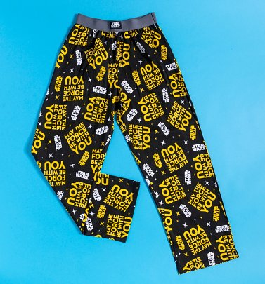 Star Wars May The Force Be With You Lounge Pants from Recovered
