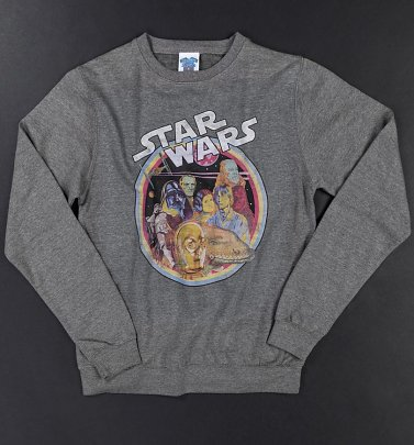 Star Wars Retro Gang Heather Grey Sweater
