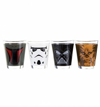 Star Wars Set Of 4 Character Shot Glasses