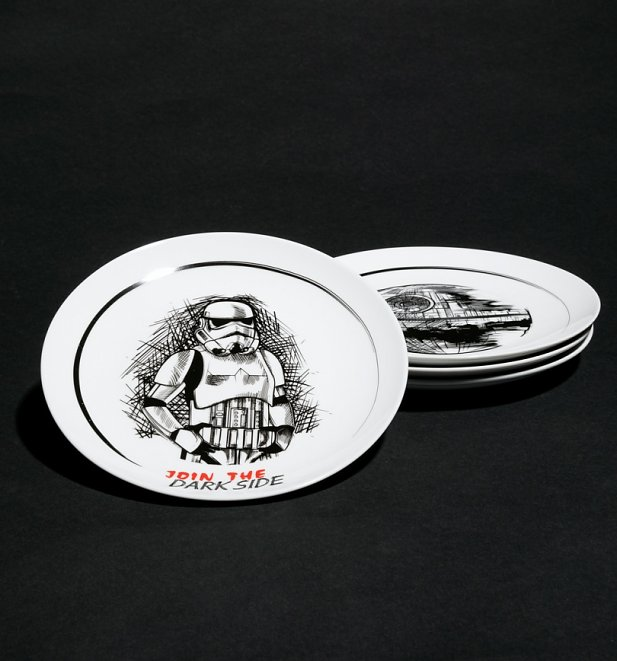 Star Wars Set of Four Plates