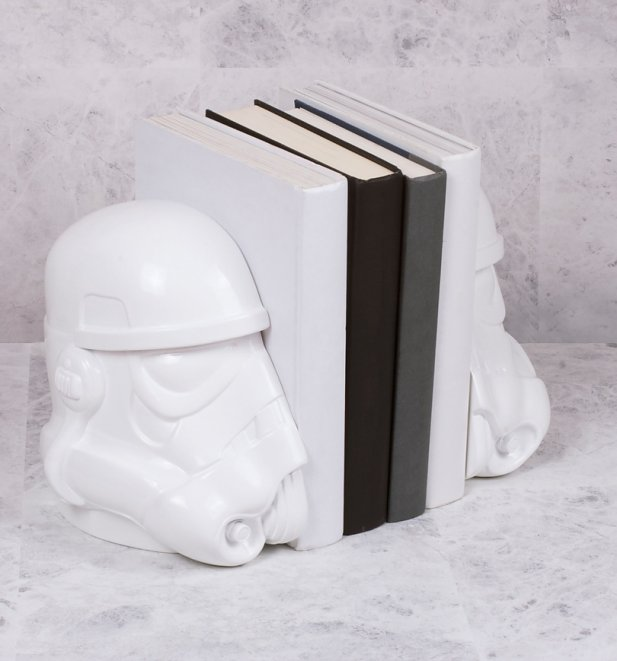 White Star Wars Stormtrooper Bookends