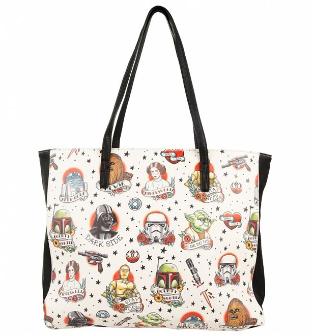 Star Wars Tattoo Characters Tote Bag from Loungefly