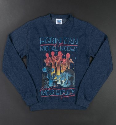 Star Wars The Intergalactic Tour Heather Navy Sweater