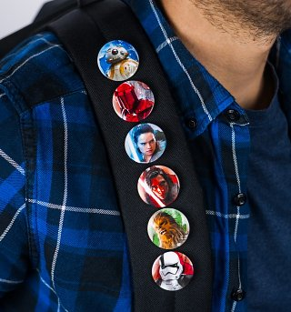 Star Wars Episode VIII The Last Jedi Set Of 6 Pin Badges