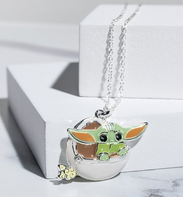 Star Wars The Mandalorian Baby Yoda Carriage Necklace