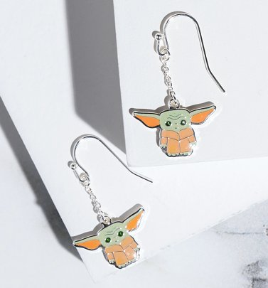 Star Wars The Mandalorian Baby Yoda Drop Earrings