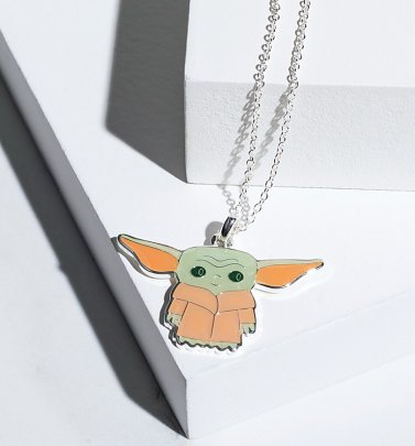 Star Wars The Mandalorian Baby Yoda Enamel Necklace