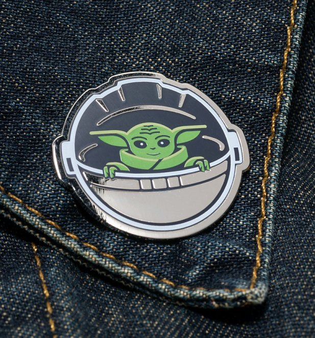 Star Wars The Mandalorian Baby Yoda Enamel Pin Badge