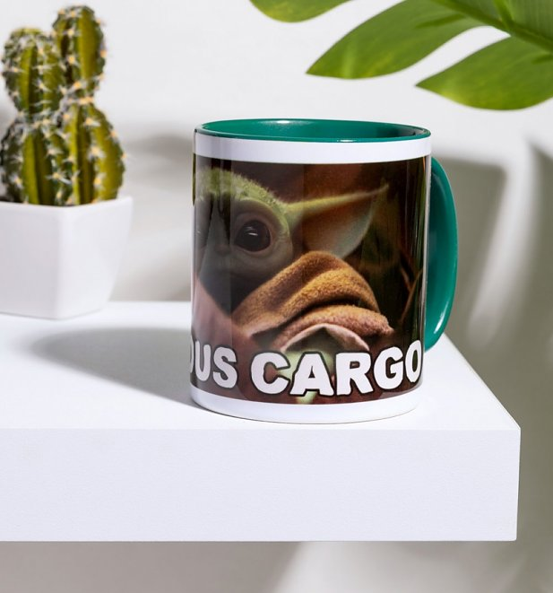 Star Wars The Mandalorian Baby Yoda Precious Cargo Green Handle Mug