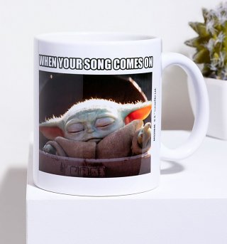 Star Wars The Mandalorian Baby Yoda Song Mug