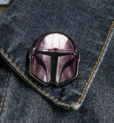 Star Wars The Mandalorian Helmet Enamel Pin Badge