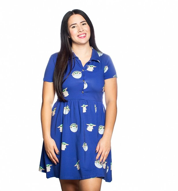 Star Wars The Mandalorian The Child Button Up Dress from Cakeworthy