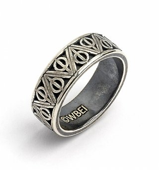 Sterling Silver Harry Potter Deathly Hallows Ring