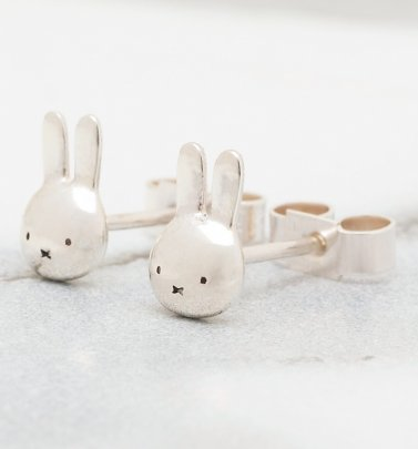 Sterling Silver Miffy Head Stud Earrings
