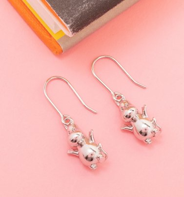 Sterling Silver Moomintroll Moomin Earrings