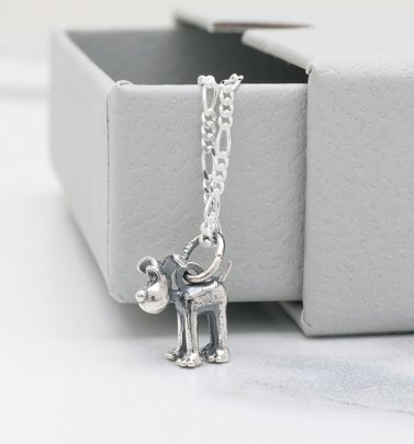 Sterling Silver Wallace And Gromit Gromit Necklace