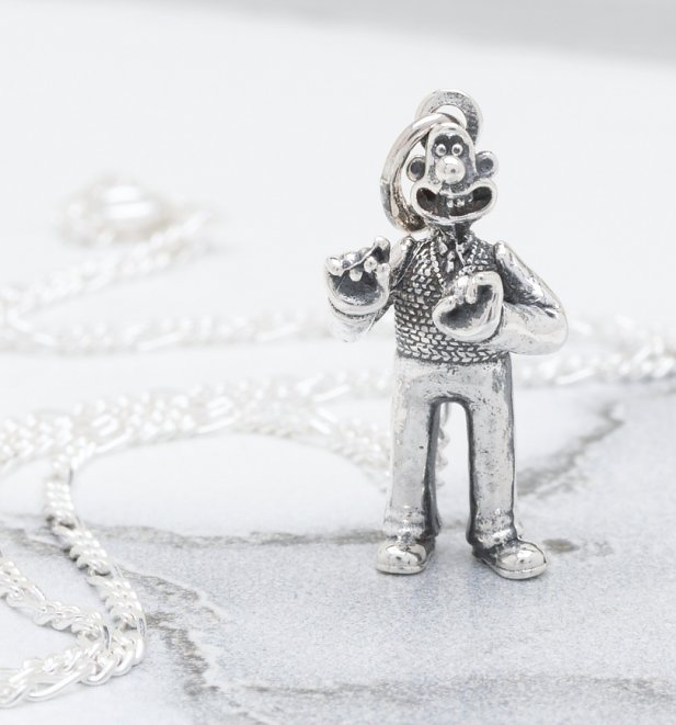 Sterling Silver Wallace And Gromit Wallace Necklace