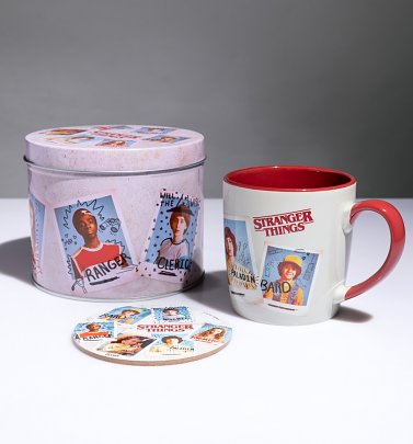 Stranger Things Coffee Mug and Coaster in Tin