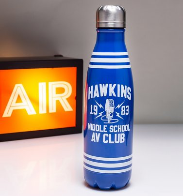 Stranger Things Hawkins Middle School AV Club Metal Water Bottle